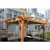 Breeze Pergola with Retractable Canopy Kit - 10 Feet x 12 Feet