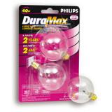 40 Watt G16 Clear Candelabra Incandscent Globe Light Bulb 2 PK