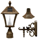 Baytown Weathered Bronze Solar Post-Mount/Wall-Mount LED Outdoor Light Fixture