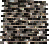 Midnight Pearl 12 Inch.  X 12 Inch.  X 8 Mm Glass Metal Stone Mesh-Mounted Mosaic Wall Tile (10 Sq. Feet. /Case)