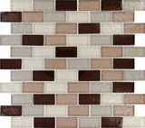 Ayres Blend 12 Inch.  X 12 Inch.  X 8 Mm Glass Mesh-Mounted Mosaic Tile (10 Sq. Feet.  / Case)