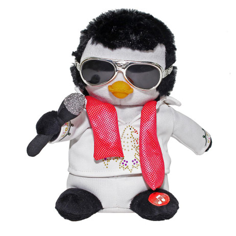 Elvis Animated & Musical Penguin Figurine