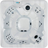 Cape Coral Silver Marble 8-Person 60-Jet Spa with Polar Insulation and Hard Cover