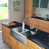 Stainless Steel All in One Farmhouse Double Bowl Kitchen Sink and Chrome Faucet Set 33 Inch