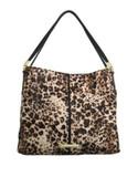 Anne Klein Animal Print Hobo Shoulder Bag - LEOPARD