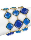 A.B.S. By Allen Schwartz Three-Row Multi-Stone Bracelet - BLUE