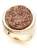 Alex Fraga 18K Gold Dipped Bronze Drusy Ring - GOLD - 7