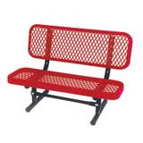 3 ft Commercial Preschool Bench- Red