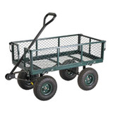 34 in. L x 18 in. W Green Heavy Duty Steel Crate Wagon
