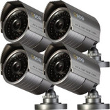 QD6008B-4 - Weatherproof  Bullet  600TVL Hi-Resolution Cameras with 100Feet Night Vision
