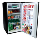 4.0 Cubic Feet Refrigerator Black With Stainless Steel