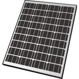 65-Watt Monocrystalline Solar Panel For 12-Volt Charging