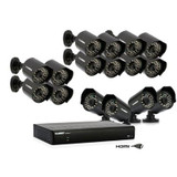 Vantage LH0161001C16F ECO Black Box 16 Channel Security System with 16 Indoor and Outdoor Cameras
