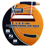 1/4 Inch x 100 Feet Polyurethane Air Hose with Field Repairable Ends