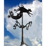 Cow over Moon - Weathervane - 30 Inch