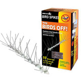 Bird-X 10 Feet. Stainless Steel Bird Spikes Kit