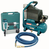 Makita 2 HP Air Compressor and Brad Nailer Kit