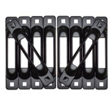 Black SNAP-LOC E-Track Single 10 Pack