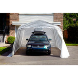 Car Shelter Standard Round 11 Feet x16 Feet  Clear Roof