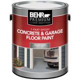 BEHR 1-Part Epoxy Concrete & Garage Floor Paint - Silver Gray; 3.79L