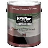 BEHR PREMIUM PLUS ULTRA Interior Eggshell Enamel Paint & Primer in One - Ultra Pure White;  3.79 L