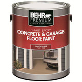1-Part Epoxy Acrylic Concrete & Garage Floor Paint - White; 3.61L
