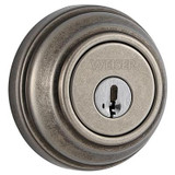 Collections single cylinder deadbolt - rustic pewter finish