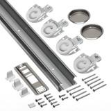 1.83m (72inches) Sliding Door Track & Hardware Kit