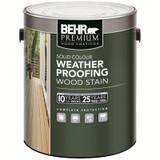 BEHR PREMIUM Solid Colour Weatherproofing Wood Stain; White No. 5011; 3.79 L