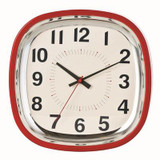 Betty 12 Wall Clock; Red