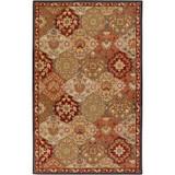 Abbaretz Red Wool  - 5 Ft. x 8 Ft. Area Rug