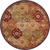 Abbaretz Red Wool Round  - 8 Ft. Area Rug