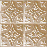 2 Feet x 2 Feet Brass Plated Steel Lay-In Ceiling Tile Design Repeat Every 12 Inches