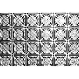 18.5 Inches x 48.5 Inches Stainless Steel Nail-Up Ceiling Tile Design Repeat Every 3 Inches
