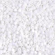 1.8 Cube Miyuki Japanese Op White Seed beads 15 Grams
