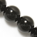 10mm Gemstone Round natural Black Onyx Beads