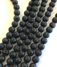 10mm Gemstone Round natural Lava Beads