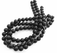 10mm Gemstone Round natural Matte Black Onyx Beads