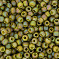 11/0 Japanese Glazed Opaque Olivine AB Glass Seed beads
