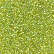 11/0 Miyuki Glass Seed beads Chartruese AB 15 Grams