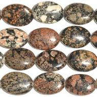 13x18mm Dakota Gemstone Mexican Oval Red Snowflake Jasper Beads