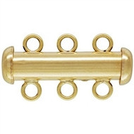 14KT Gold Filled 3 Strands Tube Clasp