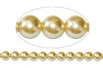 14mm Czech round smooth Glass Pearl