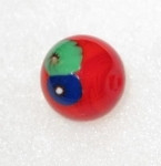 14mm Red Czech Millefiori glass bead