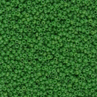 15/0 Japanese  Round Green Glass Seed Beads 15 Grams