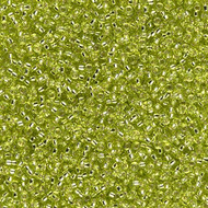15/0 Japanese Round Silver Lined Chartreuse Glass Seed Beads