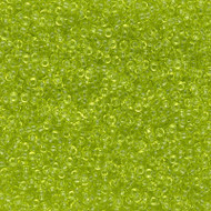 15/0 Japanese  Round Transparent Chartreuse Glass Seed Beads 15 Gram