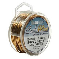 18 Ga Non Tarnish Bronze Craft Wire Round Spl