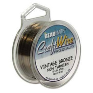 18 Ga Non Tarnish Vintage Bronze Craft Wire Round 7yd Spl