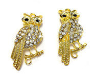 2 gold plated Owl connectors